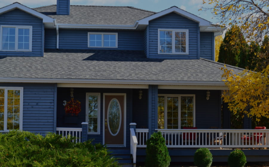 How to choose roof colors example of sky blue sidings with light grey roof shingles
