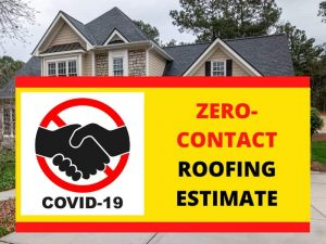Roofing Austin Texas Covid-19 Banner For No Contact Free Estimate